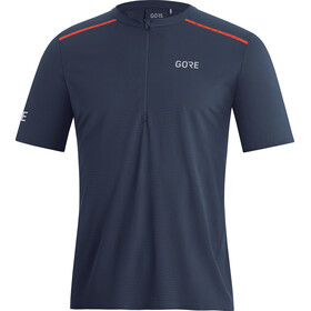 GORE WEAR Contest Zip Shirt Men orbit blue/fireball